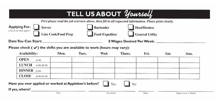 myapplebeesjob application