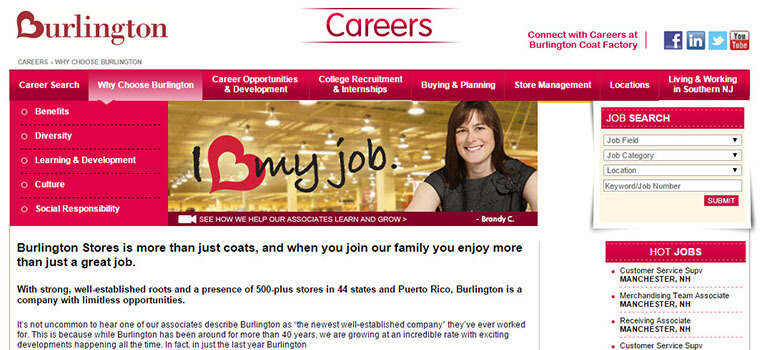 burlington coat factory careers