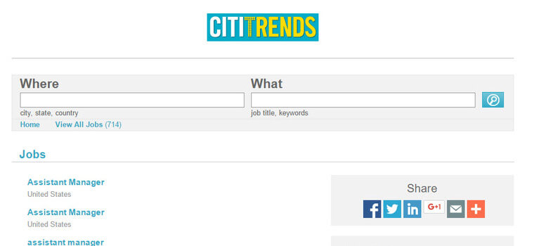 citi trends careers