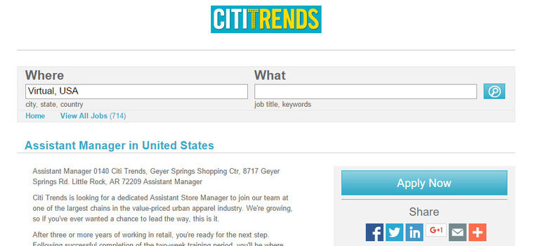 citi trends job application