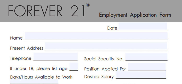 forever 21 application 2018 careers job requirements interview tips