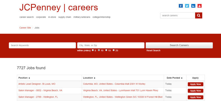 Jcpenney Application 2018 Careers Job Requirements