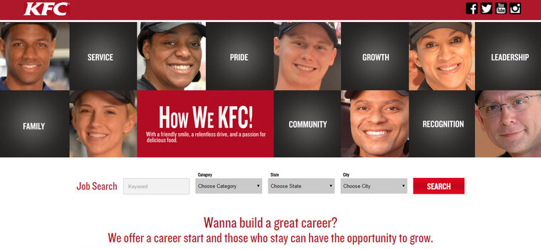 kfc job application