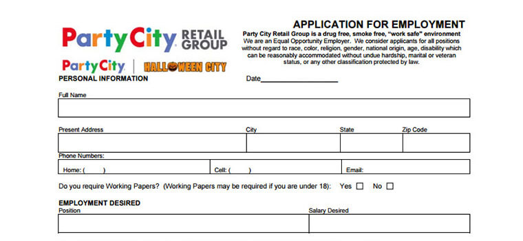 Party City Application 2018 Careers Job Requirements Interview Tips
