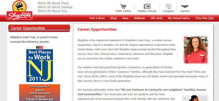ShopRite Application | 2019 Careers, Job Requirements