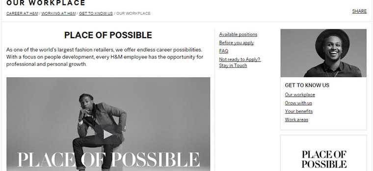 Step 3: Register at H&M or Log in. If you are a new user at H&M, you should take a few minutes to create a new account. Or you may simply sign in if you are a returning candidate.