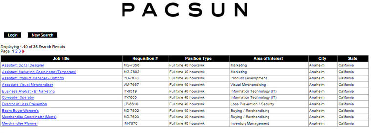 pacsun careers