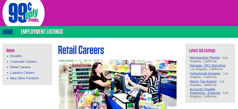 99 Cent Store Careers