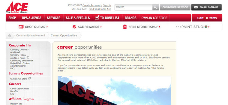 ace hardware job application