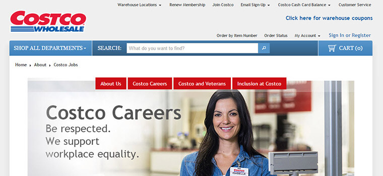 Costco Job Application  Costco Jobs