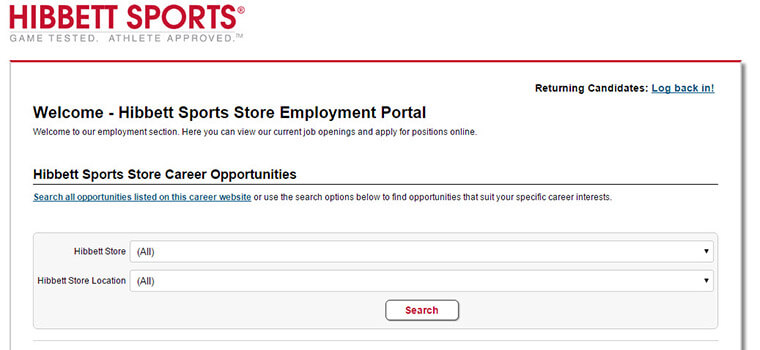 e0d7136a426ada Hibbett Sports Application