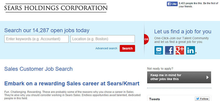 sears careers
