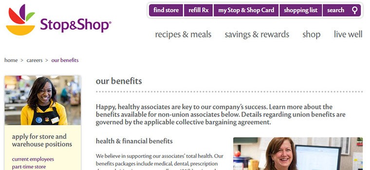 stop and shop careers