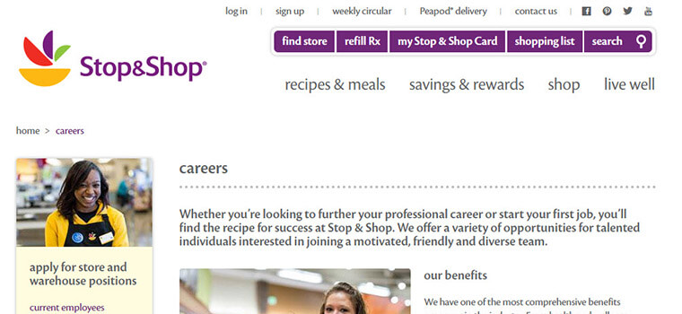 stop and shop job application