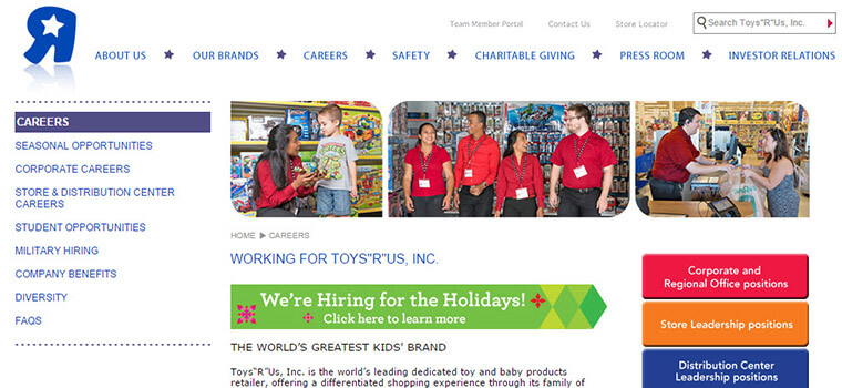 Toys R Us. What to Expect When Interviewing. Employment applications for Toys R Us may be delivered in person at Toys R Us or online. There is a screening process.