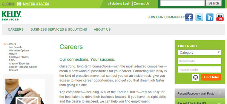 kelly services job application