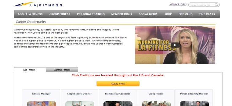 LA Fitness careers