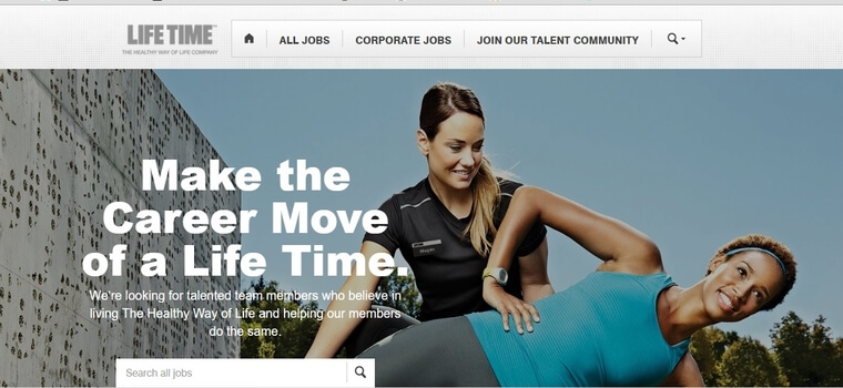 Lifetime fitness careers