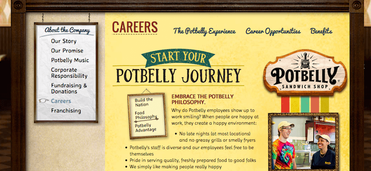 Potbelly Sandwich Shop careers