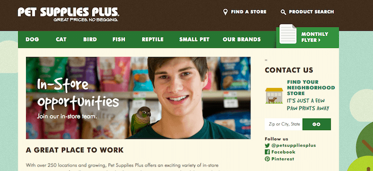 pet supplies plus careers