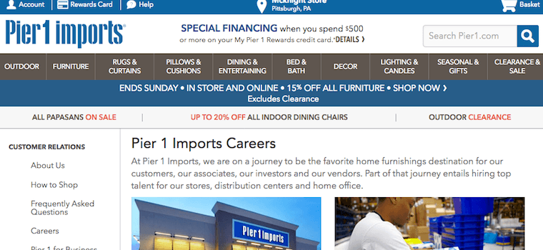 pier 1 imports careers