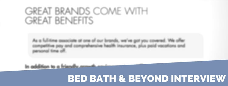 bed bath & beyond interview questions