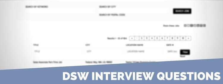 dsw interview questions