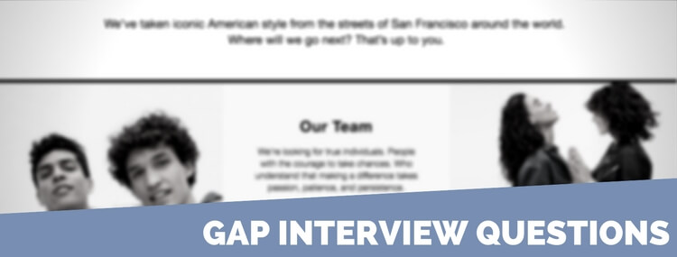 gap interview questions