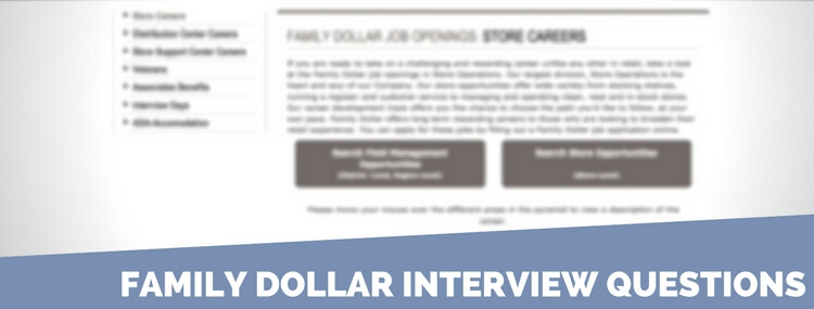 Family Dollar interview questions