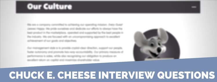 chuck e. cheese interview questions