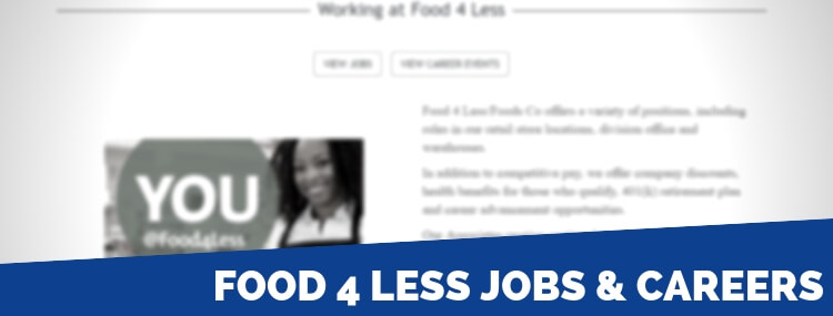 Food 4 Less Careers