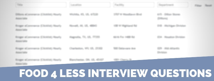 Food 4 Less Interview Questions