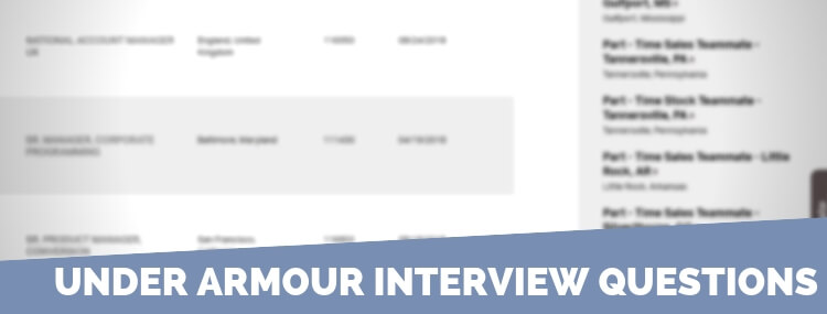 Under Armour Interview Questions