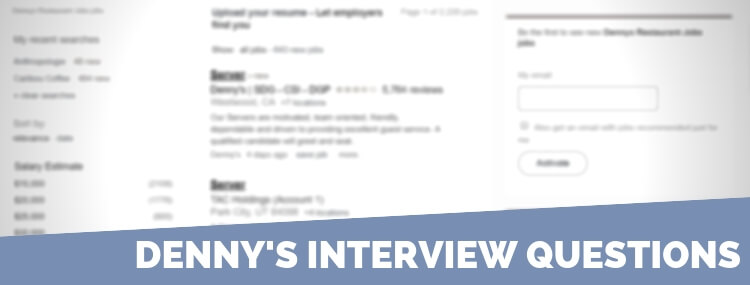 Denny's Interview Questions