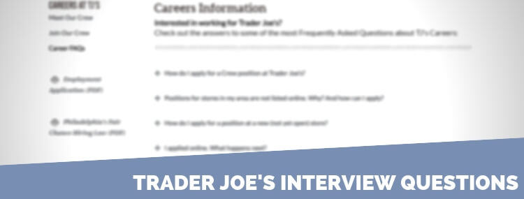 Trader Joe's Interview Questions