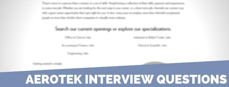 Aerotek Interview Questions
