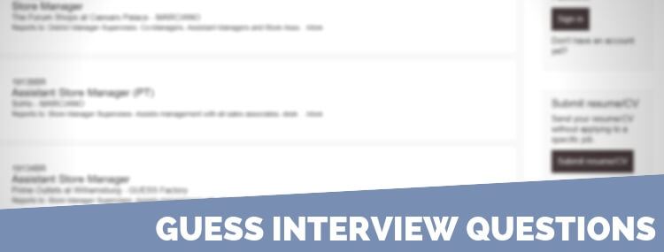 Guess Interview Questions