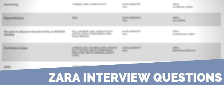 Zara Interview Questions