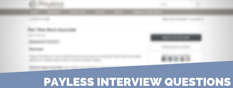 Payless Interview Questions