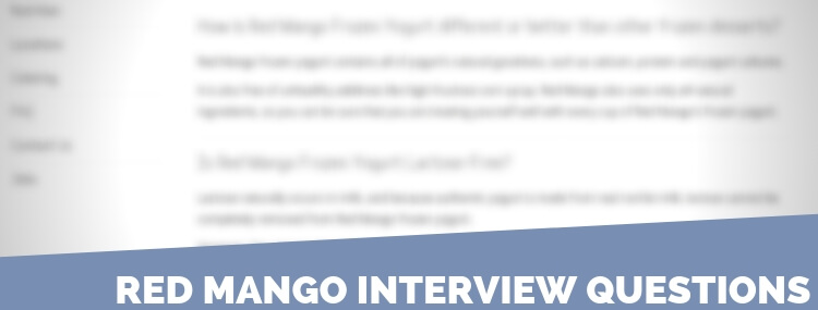 Red Mango Interview Questions