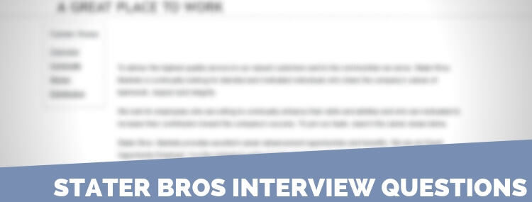 Stater Bros Interview Questions