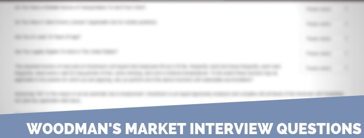 Woodman's Market Interview Questions